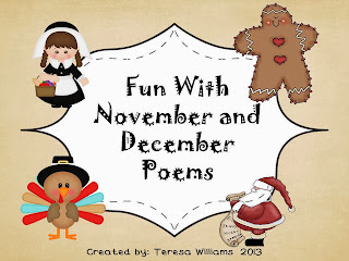 http://www.teacherspayteachers.com/Product/Fun-With-November-and-December-Poetry-739311