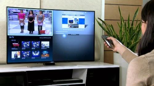 Samsung trang bị cho HU9000 nhiều tính năng mạnh mẽ, như khả năng chia ra nhiều màn hình đồng thời.