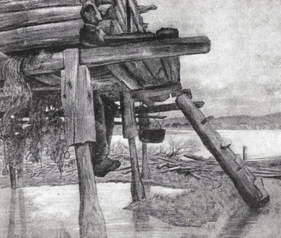 Рисунки избушки на курьих ножках карандашом