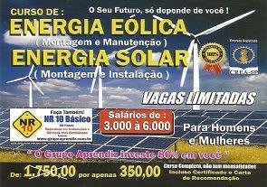 CURSO PROFISSIONAL - ENERGIA EÓLICA & ENERGIA SOLAR