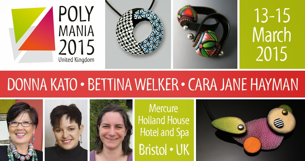 Polymania Polymer Clay Workshop Bristol UK March 2015 with Donna Kato, Bettina Welker and Cara Jane Hayman