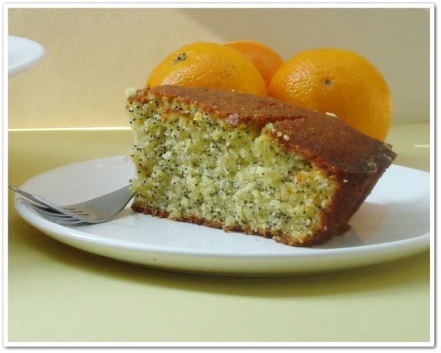 Gâteau à l'orange et au pavot - Bolo de laranja com sementes de papoula