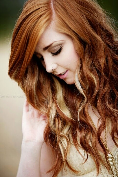 Brown Hair With Blonde Peekaboo Fashions Feel Tips And Body Care