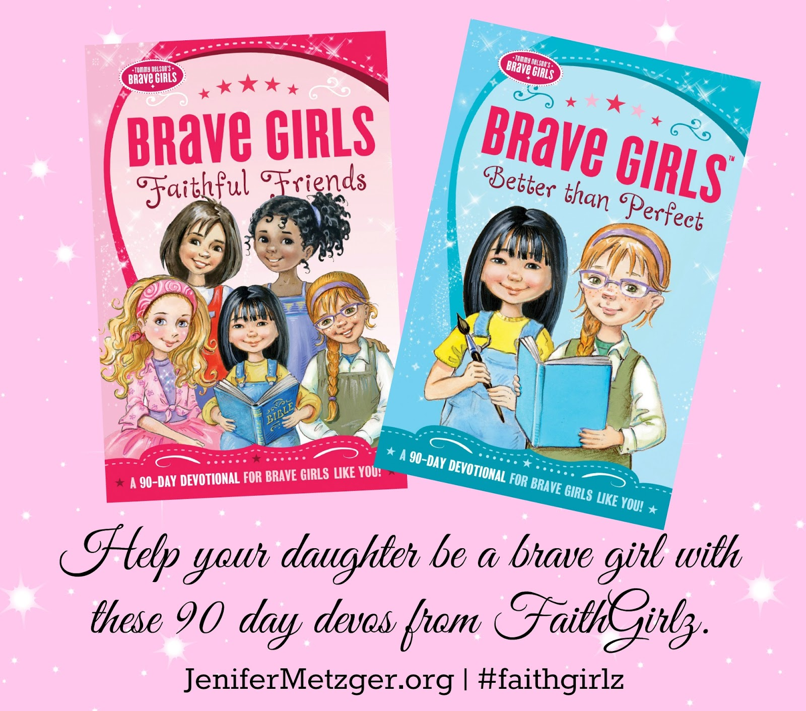 Help your daughter be a #brave #girl with these 90 day devos from #FaithGirlz.