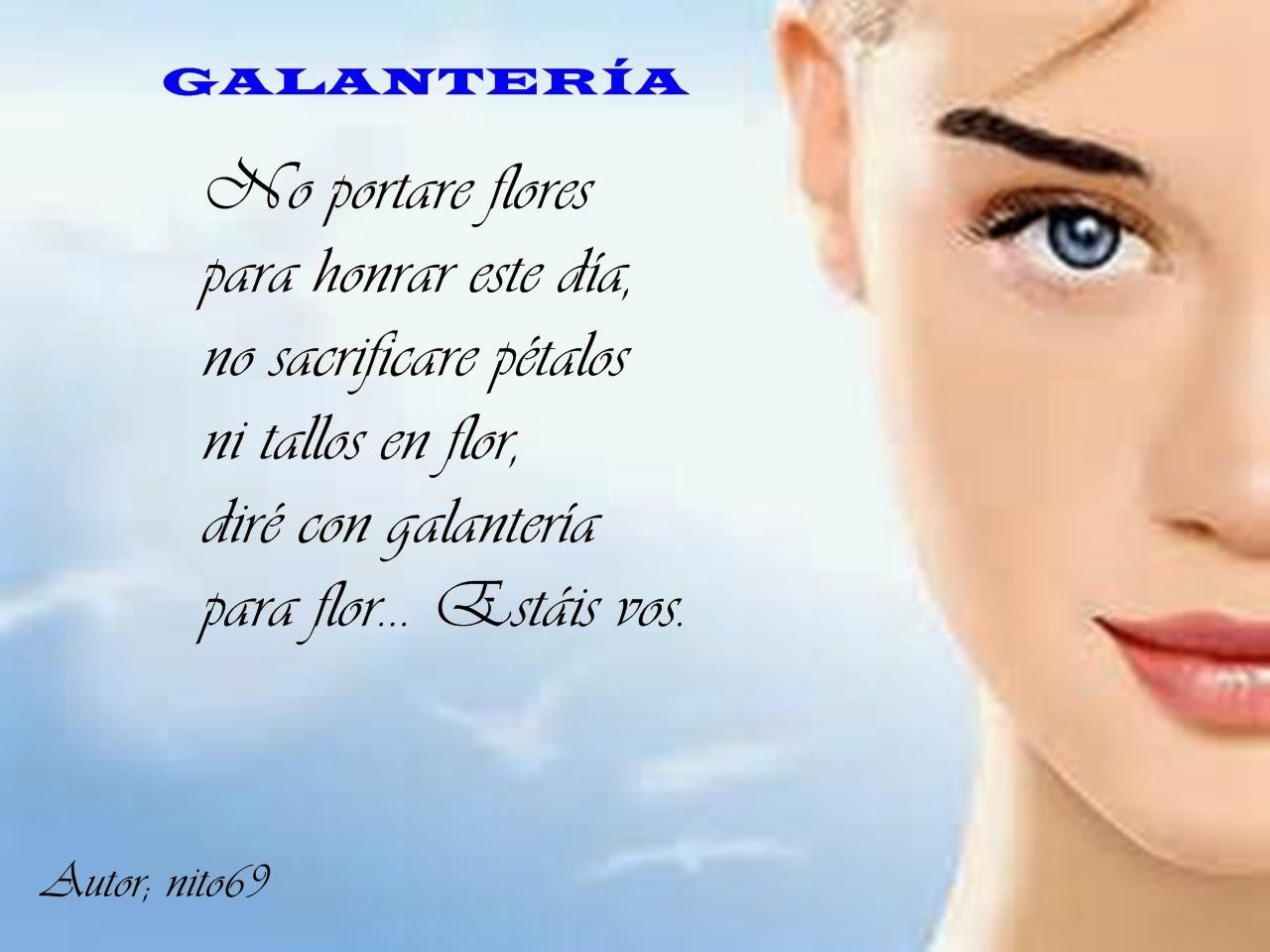 GALANTERÍA ( Poesía breve )