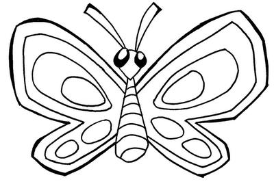 Desenho de Insetos para colorir Borboleta fofa