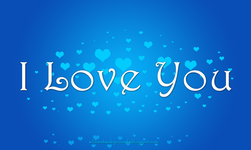 Stylish new I love you hd wallpaper design in Blue color