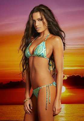 Or Grossman hot poses in a variety of skimpy bikini for Vitamin Gold swimwear models