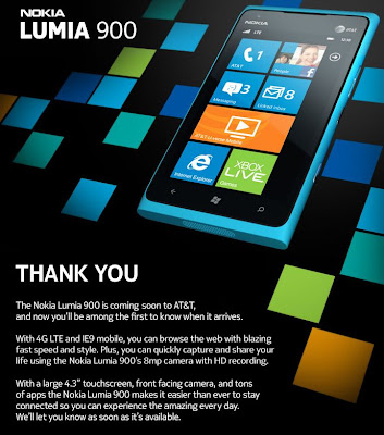 News | Future Cell Phones Technology: Nokia Lumia 900 with Windows