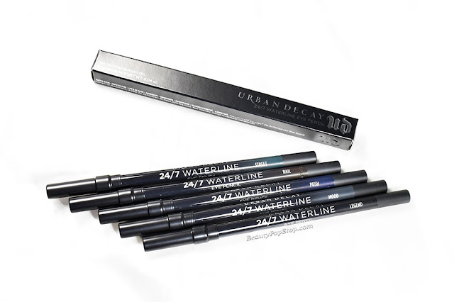 Urban Decay 24/7 Waterline Eye Pencil Swatches & Review