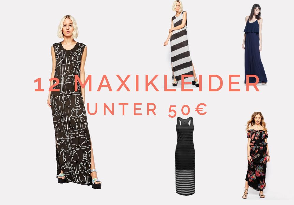 Shopping: Maxikleider on a budget