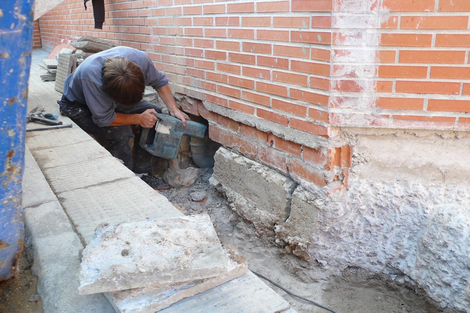 Croquis y detalle recalce de cimentaci n for Precio cimientos para casa