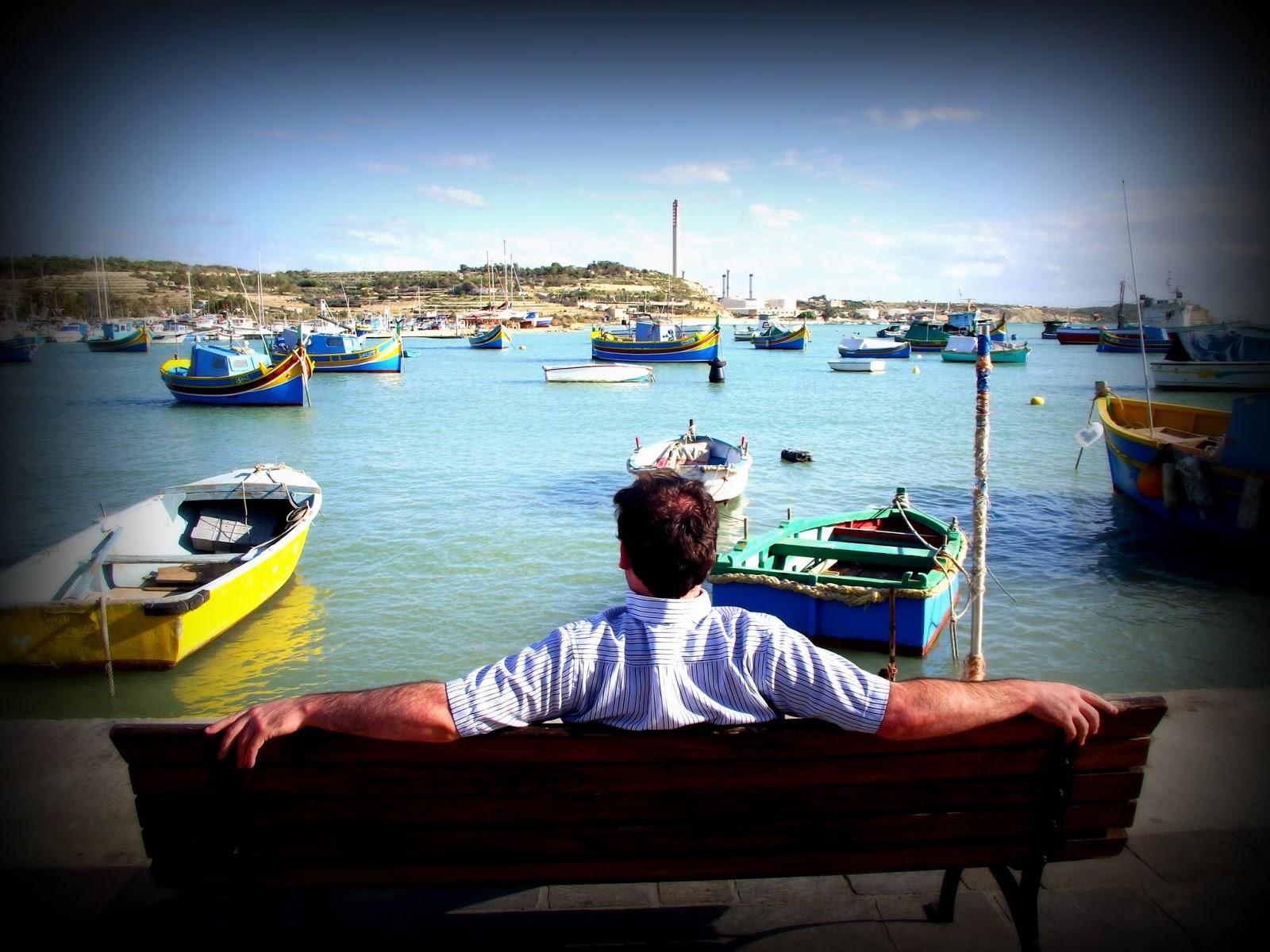Disfrutando del mar en Malta