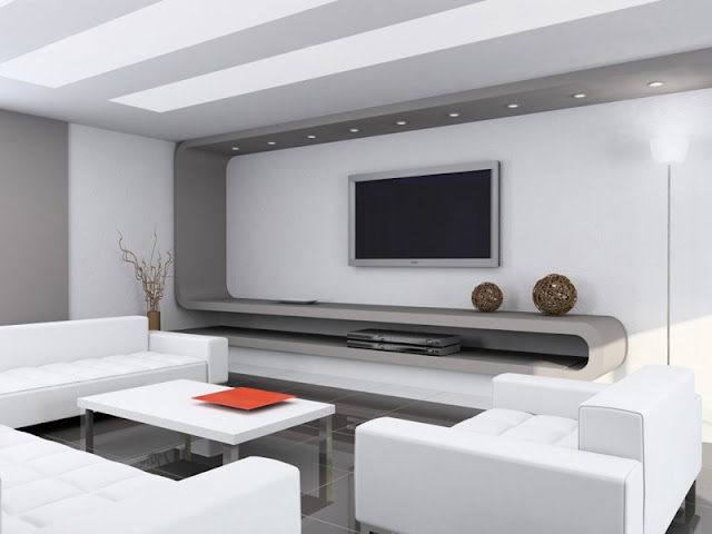 Minimalist living room design photo