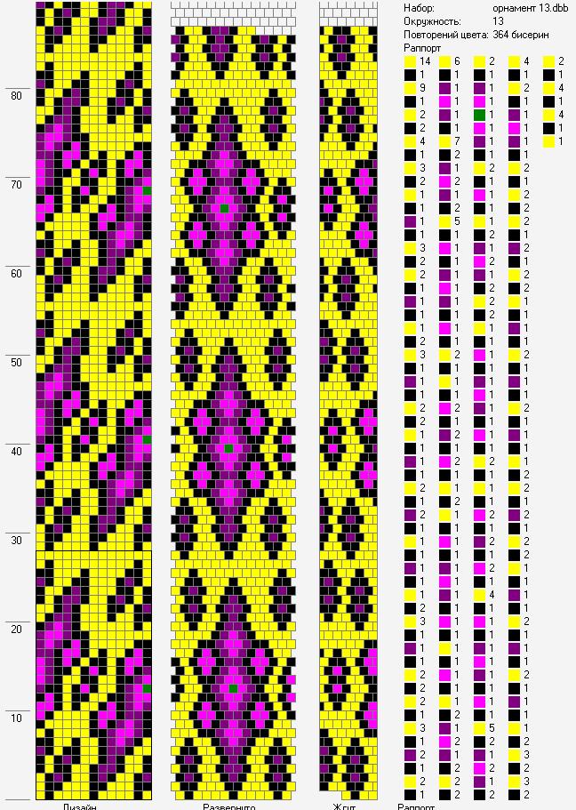 Схемы жгутов из бисера