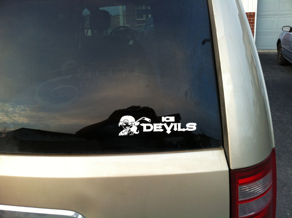 ice devils logo made with vinyl decal