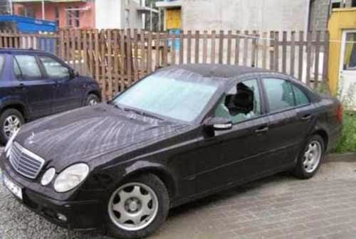 Cars damaged by People Revenges