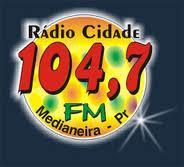 ouvir a Rádio Cidade FM 104,7 Medianeira PR