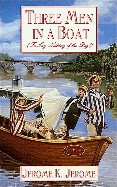 three man in the boat Three man in a boat ----- the novel is narrated by the englishman j, recounts a trip organized by j by a boat with his companions george and willi.