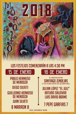 MOROLEÓN (MÉXICO) CORIDAS DIA 15 Y 16 -01-2018