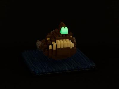 ナノブロックで作ったチョウチンアンコウ