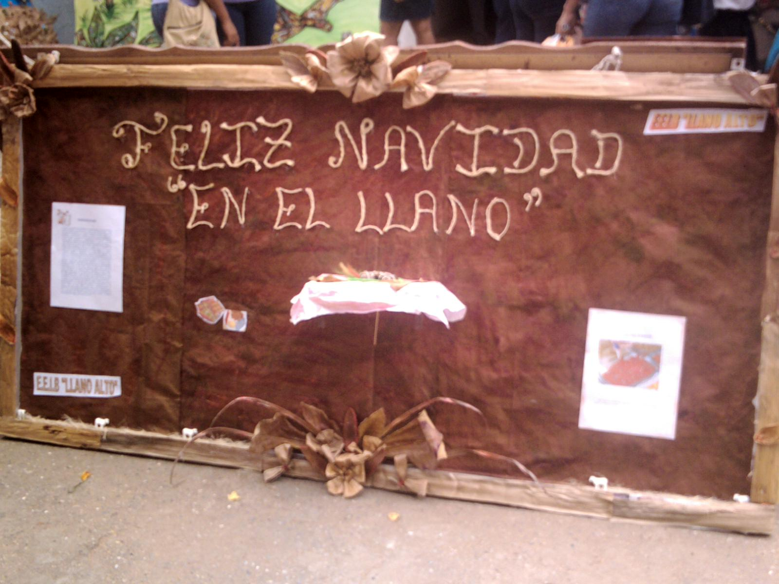 CARTELERA DE LA ESCUELA DE LLANO ALTO