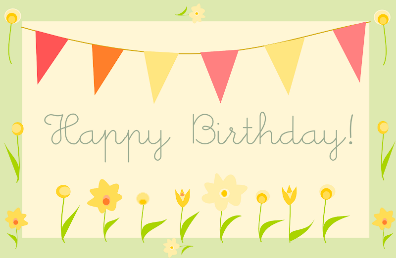 free printable happy birthday greeting card –