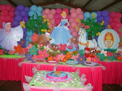 Cenicienta decoraci n de fiestas infantiles bebes y - Decoracion para fiesta infantil ...
