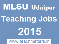 image : MLSU-Udaipur Teaching Jobs 2015 @ TeachMattres.in.Banner
