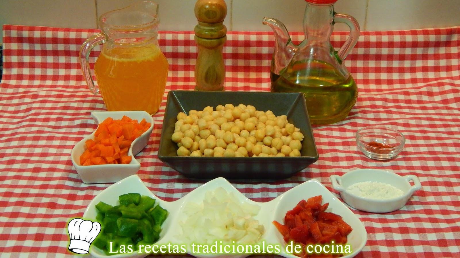 Receta fácil de garbanzos con verduras