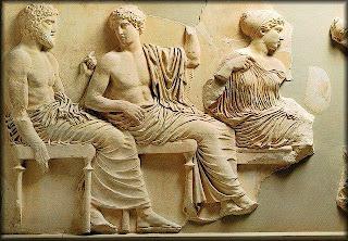 Las Panateneas eran unas fiestas religiosas que se llevaban a cabo todos los años en Atenas dedicadas a Atenea, diosa Poliada (protectora de la ciudad). Se celebraban entre el 23 y el 30 del mes de hecatombeón (primer mes en el calendario ático)
