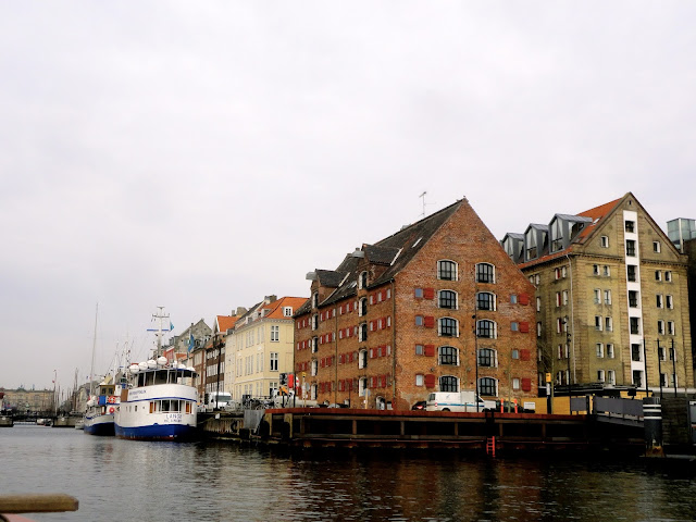 Buildings by the harbour of Copenhagen, Denmark