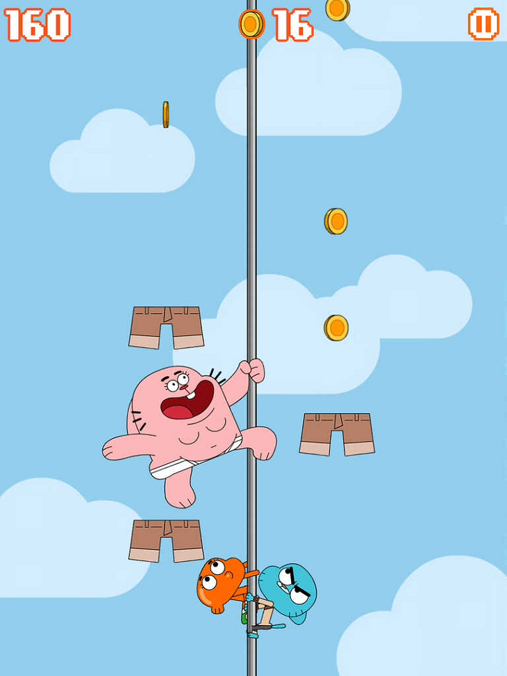 Sky Streaker Gumball Climbing Arcade Game Free App Game By Cartoon Network
