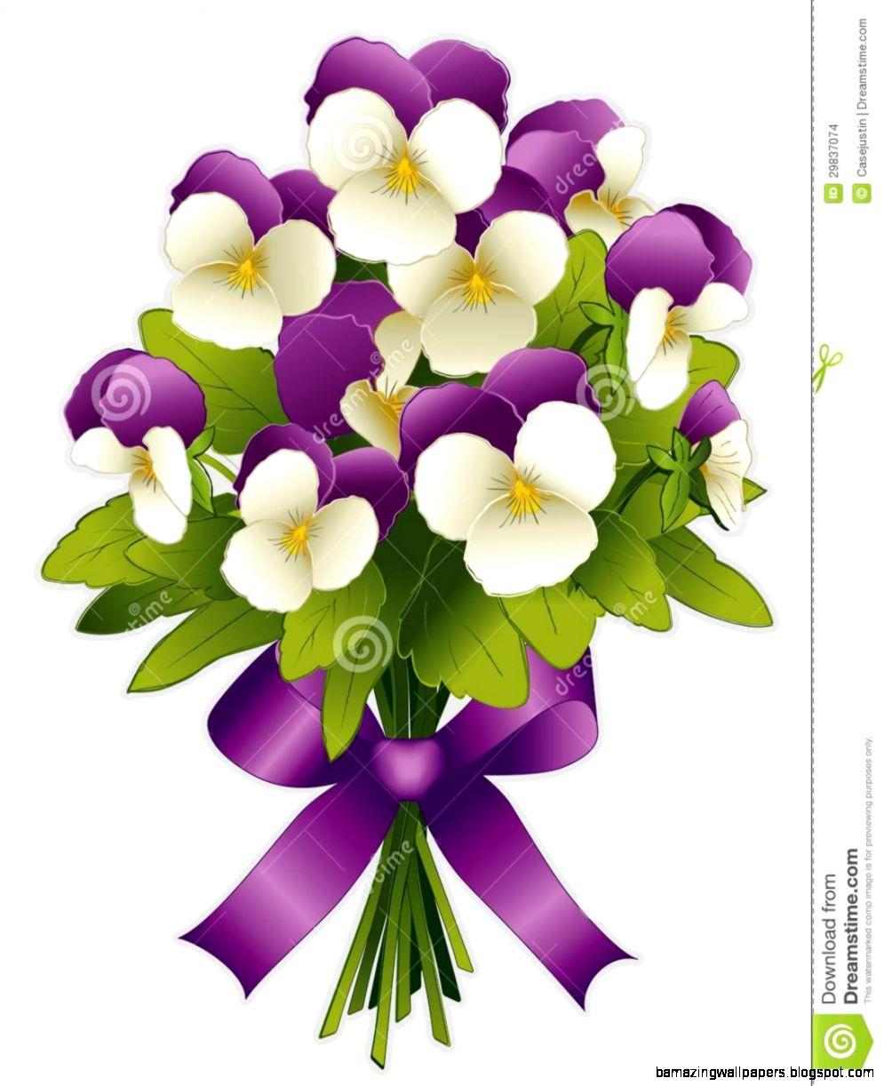 Purple Flower Bouquet Clip Art Amazing Wallpapers