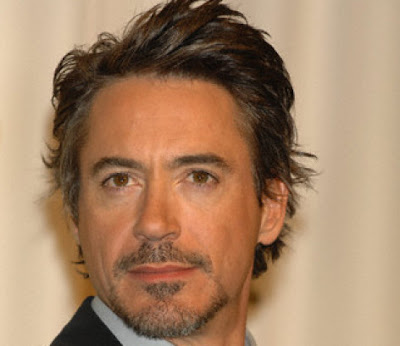 ROBERT DOWNEY COOL HAIRCUT