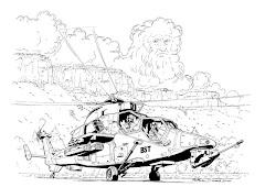 Le dessin du mois - dessous = le lien du site de Matthieu Durand dessinateur BD Aéro