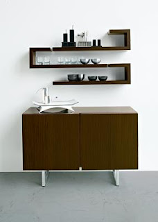 Contemporary Wood Wall Shelves