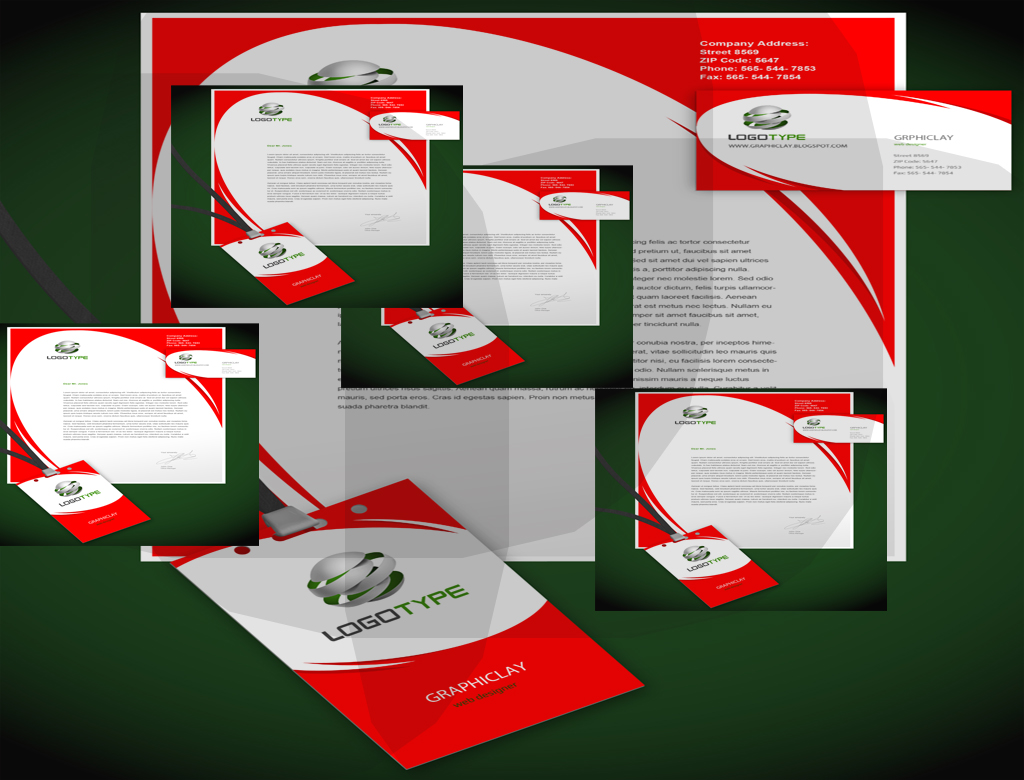 corporate identity design psd file fully editable free download, Powerpoint templates
