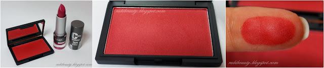 swatch colorete sleek flushed clon mac fever maquillalia