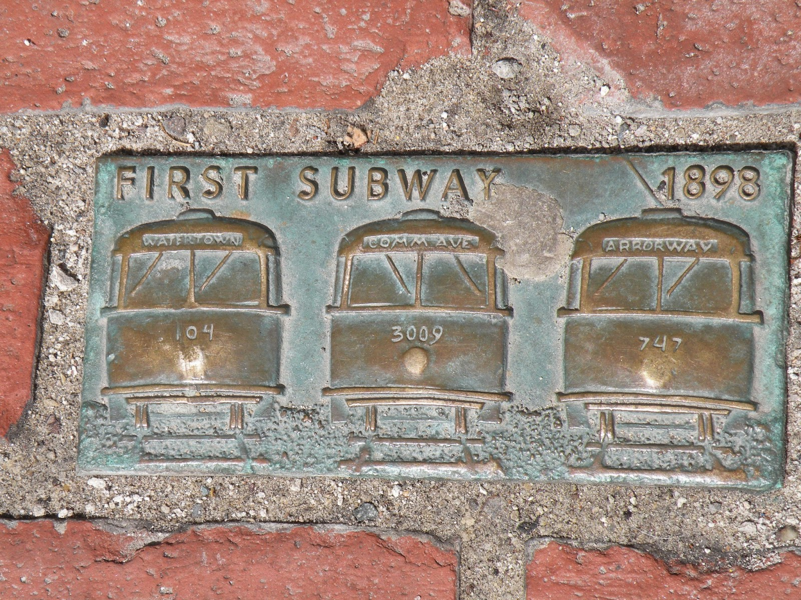 Boston Monuments First subway in America