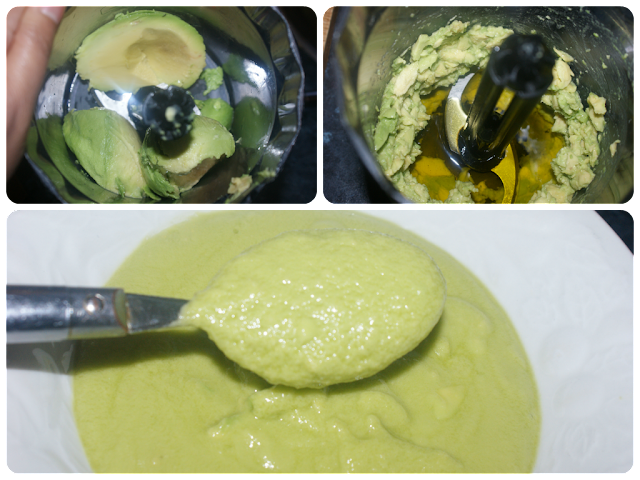 moisturising avocado hair mask for shiny hair