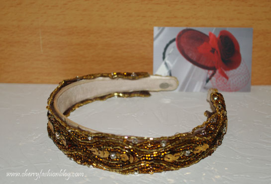 Bronze Beaded Headband, Hettie Hair Accessories, Headband Giveaway