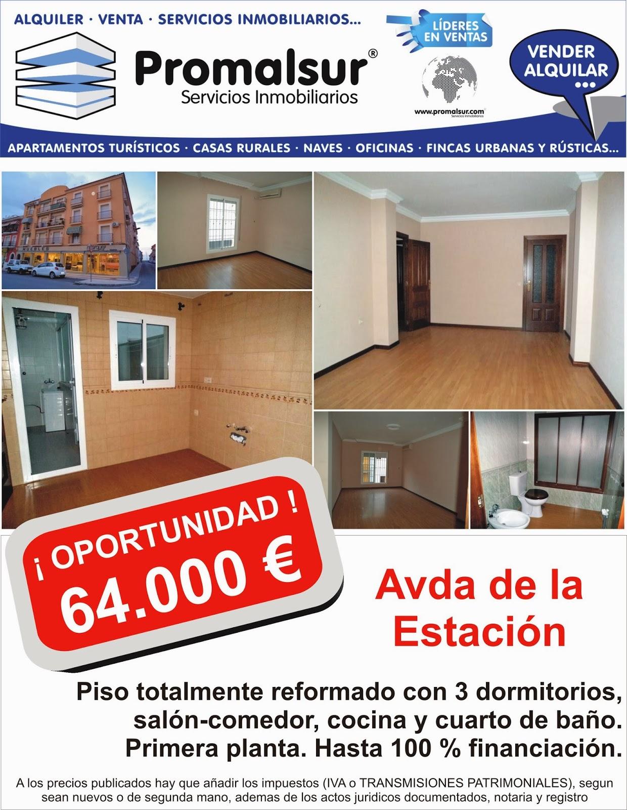 En venta piso de banco en Puente Genil