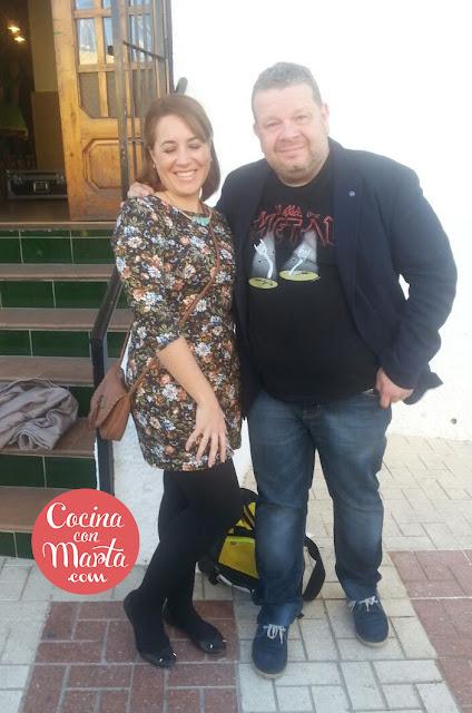 Cocina con Marta en Pesadilla en la Cocina con Alberto Chicote en el Montecillo, Málaga.