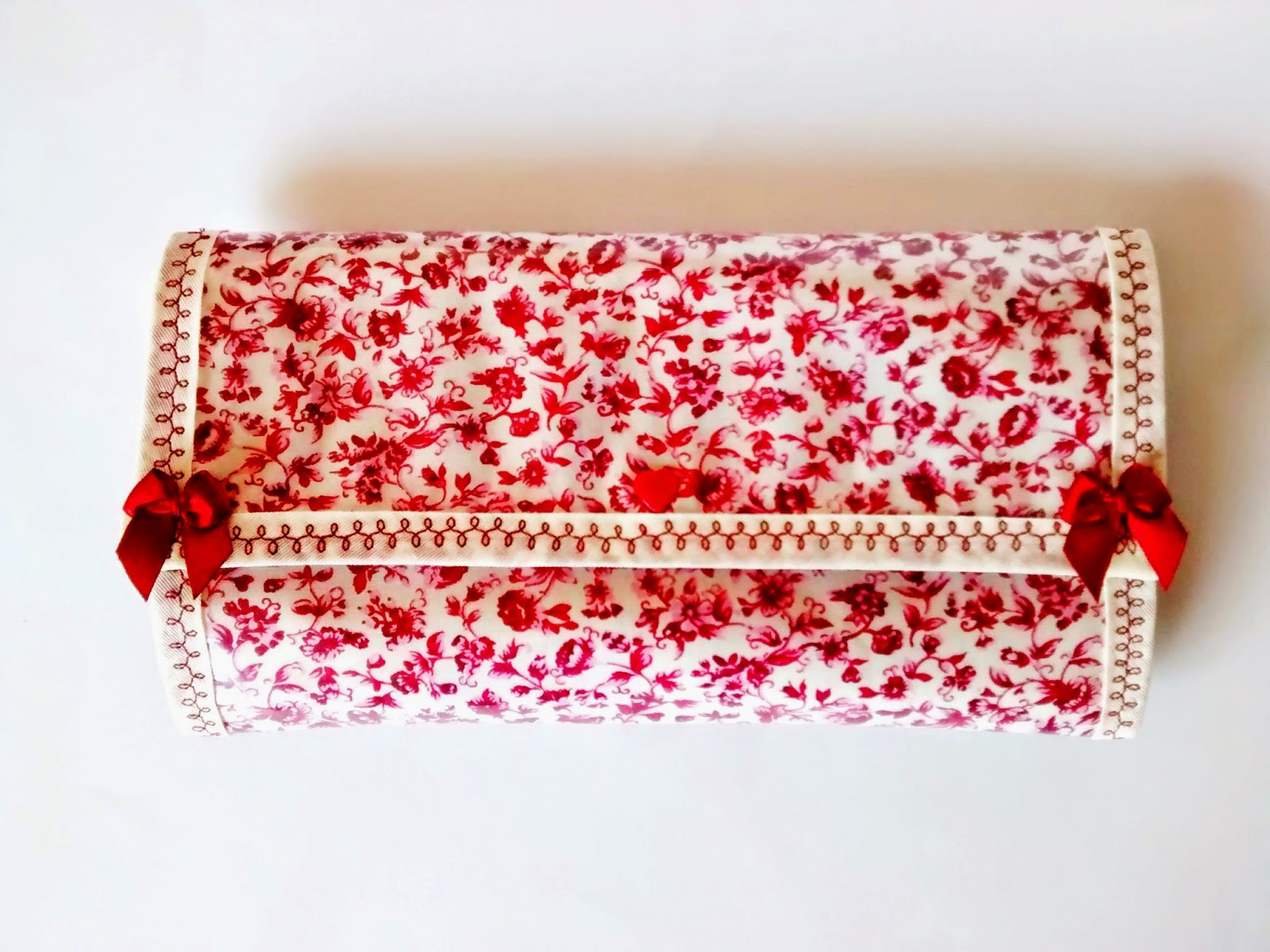 Kit higiene bucal estampa florzinha vermelha @ateliemadrica