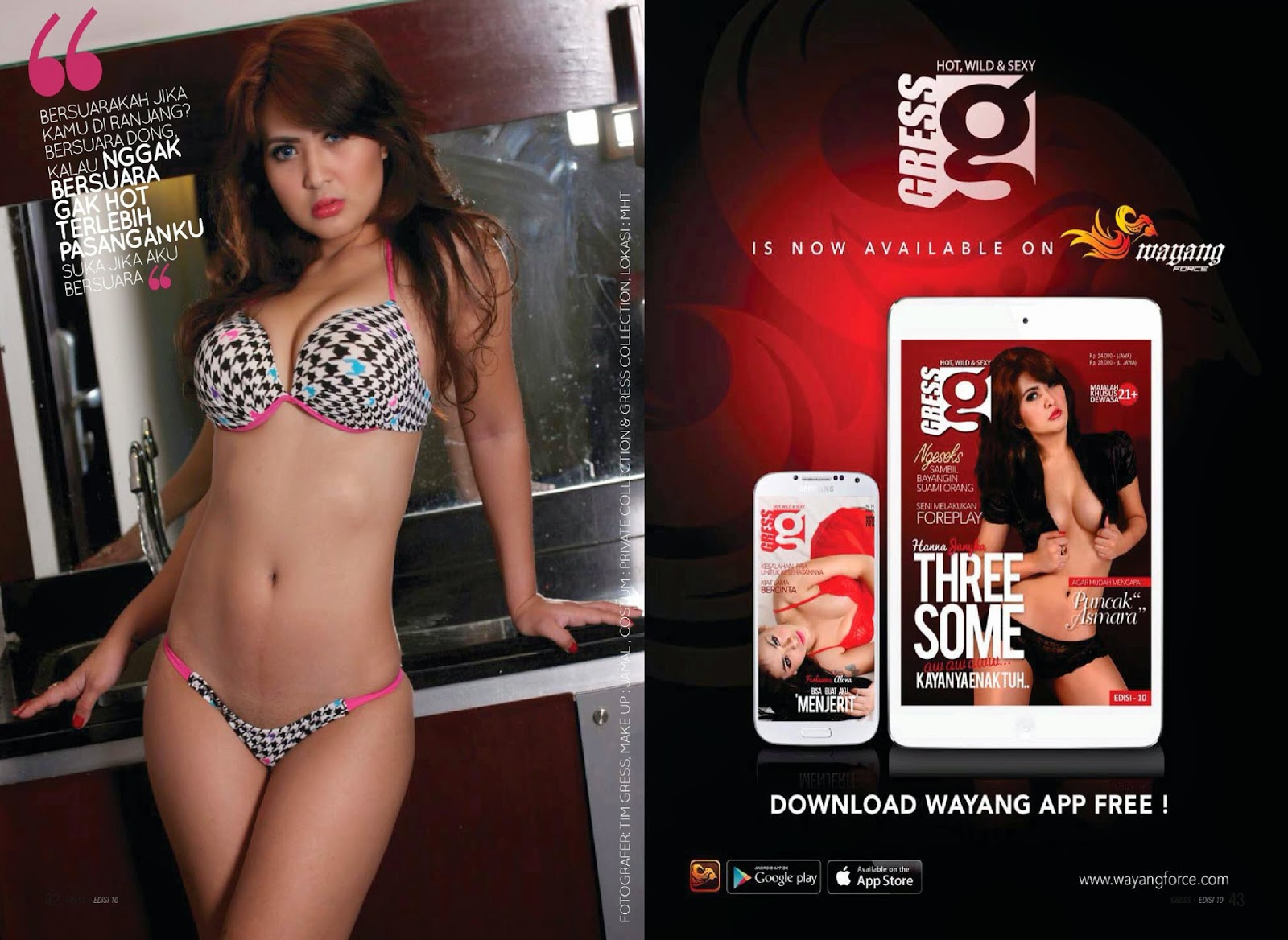 Hanna Janyka Hot On Gress Magazine