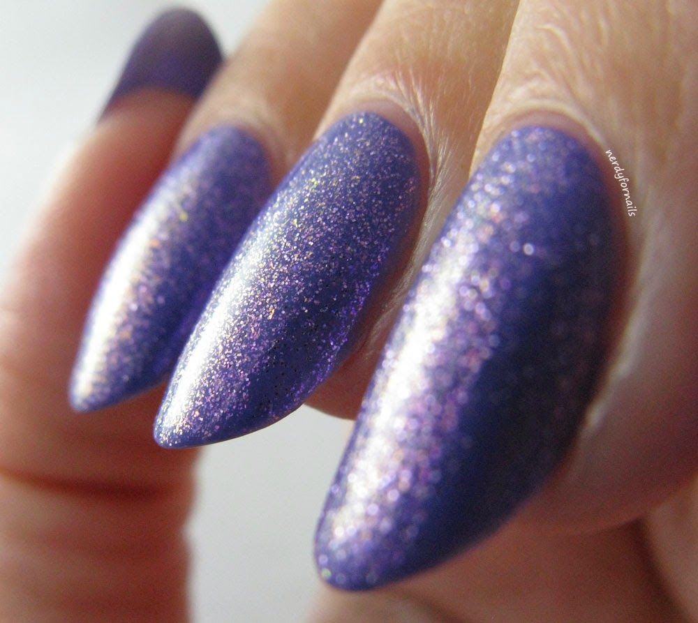 NYC City Samba Collection Jacaranda Flower Swatch With Orly Pixie Powder