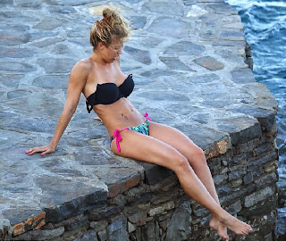 Gemma Atkinson Black Bikini the Mediterranean