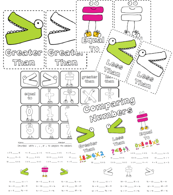 Number Names Worksheets : more and less worksheets for ...
