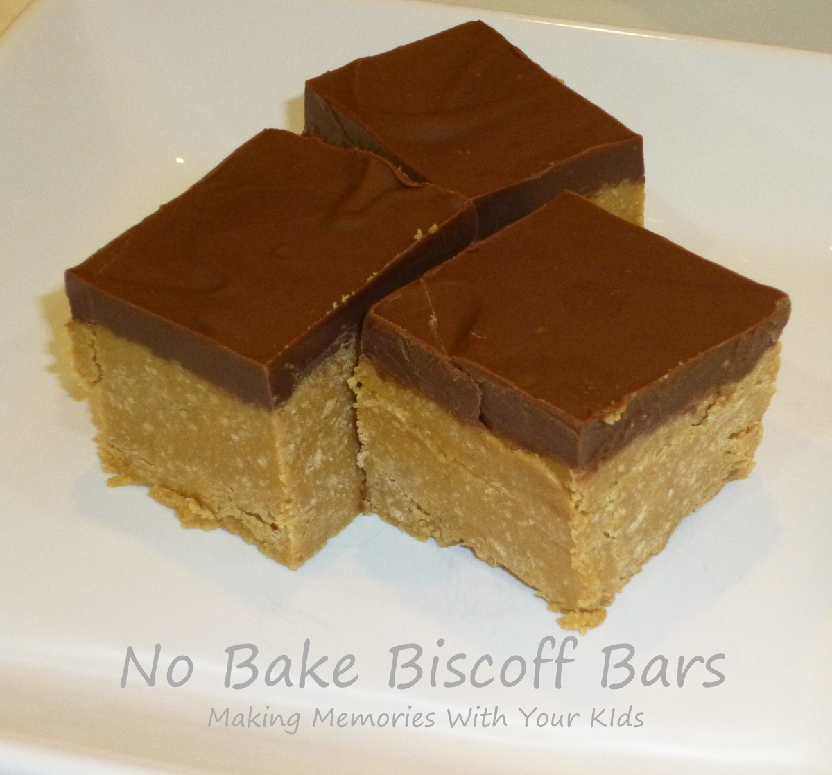 No Bake Biscoff Bars - Making Memories With Your Kids